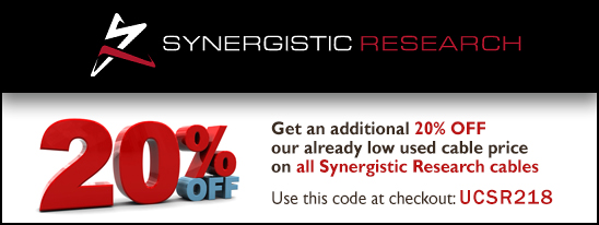 Synergistic Research 20% OFF our low used cable prices